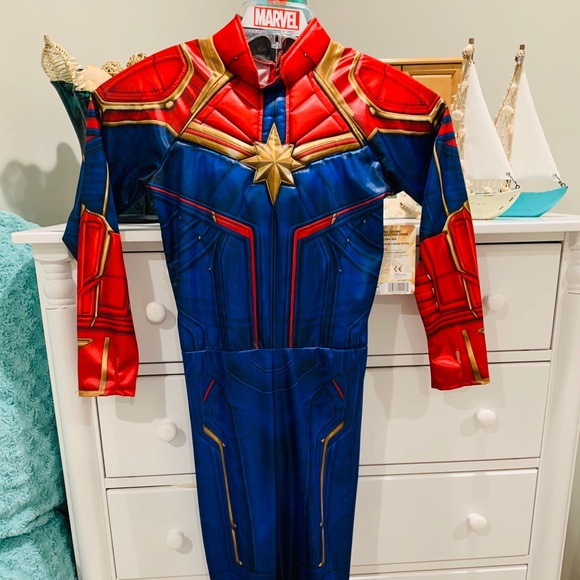 Marvel Costumes Captain Marvel Superhero Kids Costume Size 8 Poshmark If you like comics, you will fall in love with these marvel costumes. poshmark
